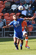 Oldham Athletic Forward, Aaron Holloway (10)  during the EFL Sky Bet League 1 match between Blackpool and Oldham Athletic at Bloomfield Road, Blackpool, England on 26 August 2017. Photo by Mark Pollitt.