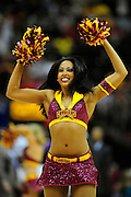 Feb. 16, 2011; Cleveland, OH, USA; A Cleveland Cavaliers cheerleader during the fourth quarter against the Los Angeles Lakers at Quicken Loans Arena. The Cavaliers beat the Lakers 104-99. Mandatory Credit: Jason Miller-US PRESSWIRE