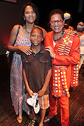 21 July 2011- Harlem, NY- Stephanie Lawson-Muhammad, her son, and Dr. Juliane Malveaux at the 2011 Harlem Book Fair held along West 135th Street and at The Schomburg Center on July 23, 2011 in the village of Harlem, USA. Photo Credit: Terrence Jennings
