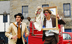 Street Theatre with The Gombeens was part of the weekends events of the Westport Arts Festival 2009...Pic Conor McKeown