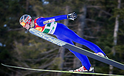 14.12.2013, Nordische Arena, Ramsau, AUT, FIS Nordische Kombination Weltcup, Skisprung, Wettkampfdurchgang, im Bild Haavard Klemetsen (NOR) // Haavard Klemetsen (NOR) during Ski Jumping of FIS Nordic Combined World Cup, at the Nordic Arena in Ramsau, Austria on 2013/12/14. EXPA Pictures © 2013, EXPA/ JFK