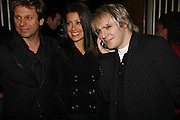 Mr. and Mrs. Roger taylor and Nick Rhodes, Opening night of the  Broadway dance show 'Movin' Out' at the Apollo Victoria theatre. London. 10 April  2006. ONE TIME USE ONLY - DO NOT ARCHIVE  © Copyright Photograph by Dafydd Jones 66 Stockwell Park Rd. London SW9 0DA Tel 020 7733 0108 www.dafjones.com