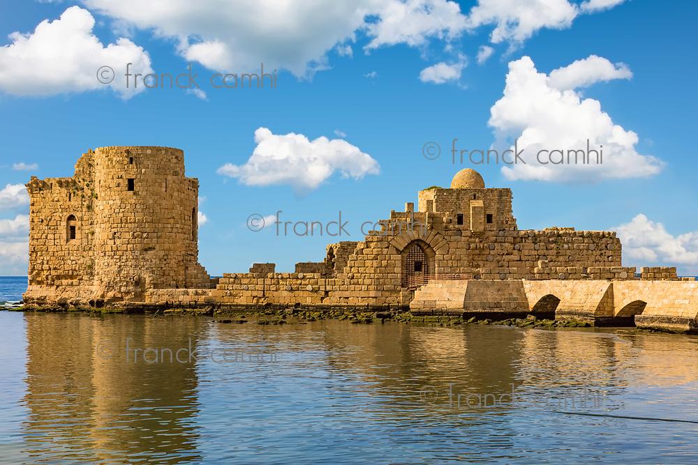 Crusaders Sea Castle Sidon Saida in South Lebanon Middle east