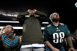 Jesse McLean and Bob Nadler of Toms river, NJ attend the game.<br /> <br /> Stadium scenes from the December 26, 2015 NFC East Division game between Philadelphia Eagles and Washington Redskins at Lincoln Financial Field. (Photo by Bastiaan Slabbers)
