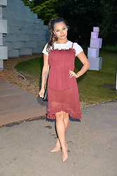 Singer VANESSA WHITE at a party hosted by fashion store COS to celebrate The Serpentine Park Nights 2016 held at The Serpentine Gallery, Kensington Gardens, London on 12th July 2016.