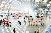 Milan:the central train station, stazione centrale