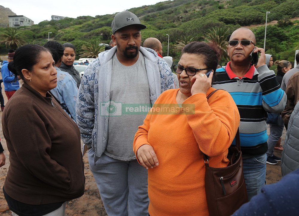 Cape Town - 180813 - The Hout Bay fishing community are distraught and tensions are running high after an alleged poacher was shot at see while being apprehended by the authorities In pic the family of the deceased, Tiffany van Blerk, Christopher van Blerk (brother), Christine van Blerk (mother) and Edward van Blerk (father) - Photographer - Tracey Adams - ANA African News Agency