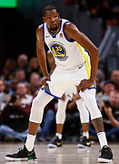 CLEVELAND, OH - JANUARY 15: Kevin Durant #35 of the Golden State Warriors is seen during the game against the Cleveland Cavaliers at Quicken Loans Arena on January 15, 2018 in Cleveland, Ohio. NOTE TO USER: User expressly acknowledges and agrees that, by downloading and or using this photograph, User is consenting to the terms and conditions of the Getty Images License Agreement.(Photo by Michael Hickey/Getty Images) *** Local Caption *** Kevin Durant