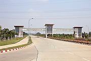 Entrance to the international airport at the new capital. Nap Pyi Taw, Myanmar. 2012