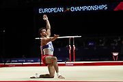 Nikita Nagornyy (Russia) the floor competition during the presentation of the teams during the European Championships Glasgow 2018, Team Men Final at The SSE Hydro in Glasgow, Great Britain, Day 10, on August 11, 2018 - Photo Laurent Lairys / ProSportsImages / DPPI