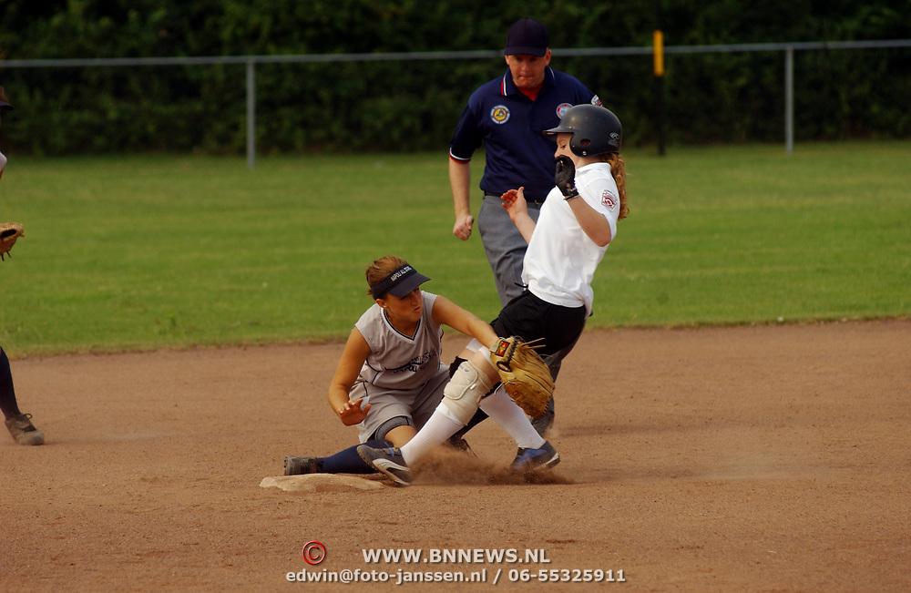 Europesche kampioenschappen Softball jeugd, nederland - Italie