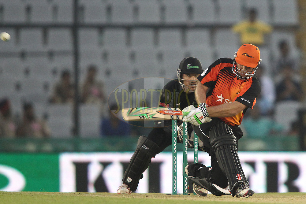 Craig Simmons of the Perth Scorchers slog sweeps a delivery during match 4 of the Oppo Champions League Twenty20 between the Dolphins and the Perth Scorchers held at the Punjab Cricket Association Stadium, Mohali, India on the 20th September 2014<br /> <br /> Photo by:  Shaun Roy / Sportzpics/ CLT20<br /> <br /> <br /> Image use is subject to the terms and conditions as laid out by the BCCI/ CLT20.  The terms and conditions can be downloaded here:<br /> <br /> http://sportzpics.photoshelter.com/gallery/CLT20-Image-Terms-and-Conditions-2014/G0000IfNJn535VPU/C0000QhhKadWcjYs