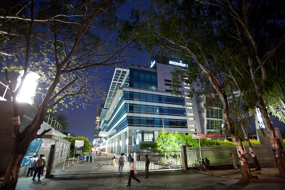 The offices of global management, technology services and outsourcing company, Accenture, in Bangalore, India.