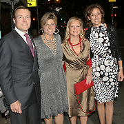 USA/New York/20090905 - Huwelijk Bernardo Guillermo en Eva Prinz -Valdez in New York in New York, aankomst prins Constantijn en prinses Laurentien, Carolina de Bourbon de Parme en prinses Marilene