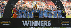 February 23, 2019 - Sheffield, England, United Kingdom - Manchester City celebrate winning the lague cup during the  FA Women's Continental League Cup Final  between Arsenal and Manchester City Women at the Bramall Lane Football Ground, Sheffield United FC Sheffield, Saturday 23rd February. (Credit Image: © Action Foto Sport/NurPhoto via ZUMA Press)