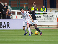 August 5th 2017, Dens Park, Dundee, Scotland; Scottish Premiership; Dundee versus Ross County; Ross County's Sean Kelly and Dundee's Roarie Deacon