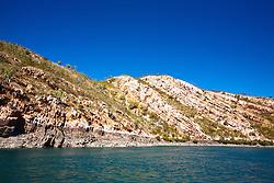 Cliffs in Cyclone Creek, Talbot Bay