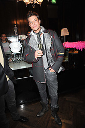 DUNCAN JAMES at the after show party following the first night of the musical Legally Blonde, held at the Waldorf Hilton Hotel, Aldwych, London on 13th January 2010.