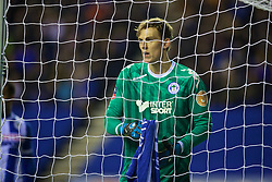 WIGAN, ENGLAND - Monday, February 19, 2018: Wigan Athletic's Christian Walton during the FA Cup 5th Round match between Wigan Athletic FC and Manchester City FC at the DW Stadium. (Pic by David Rawcliffe/Propaganda)