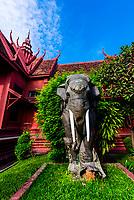 Elephant statue,National Museum of Cambodia, Phnom Penh, Cambodia.
