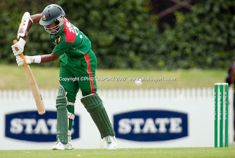 Bangladesh batsman Zunaed Siddique. Northern Knights v Bangladesh. One day tour cricket match. Seddon Park, Hamilton. Sunday 16 December 2007. Photo: Stephen Barker/PHOTOSPORT