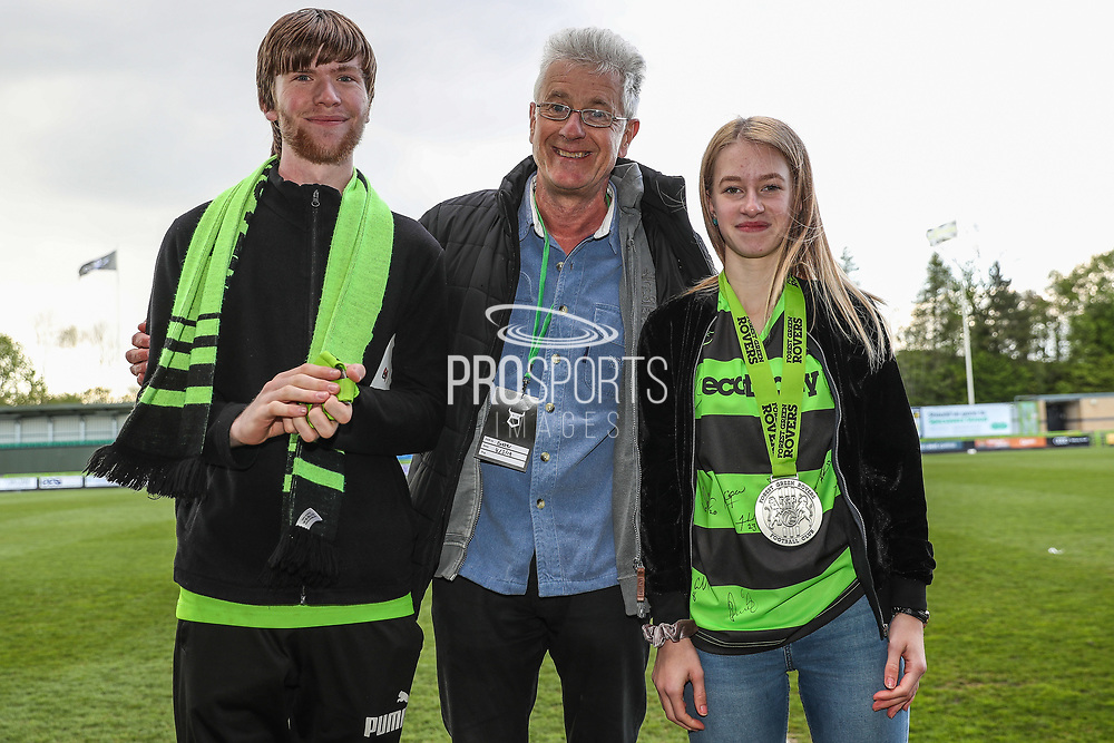 Club persons of the year during the EFL Sky Bet League 2 match between Forest Green Rovers and Exeter City at the New Lawn, Forest Green, United Kingdom on 4 May 2019.