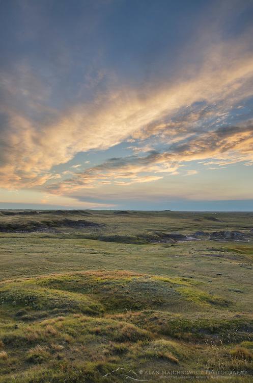 Sunset over Medicine Rocks State Park Montana