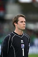 Photo: Andrew Unwin.<br />Northern Ireland v Iceland. European Championships 2008 Qualifying. 02/09/2006.<br />Iceland's Arni Gautur Arason.