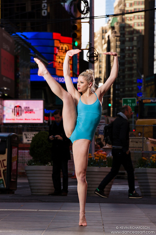 Dance As Art Times Square New York City Dance Photography with dancer Erika Citrin