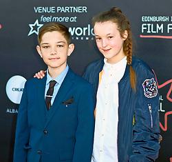 Edinburgh International Film Festival, Saturday, 23rd June 2018<br /> <br /> 'TWO FOR JOY' World Premiere<br /> <br /> Pictured:  Bella Ramsey and Badger Skelton<br /> <br /> (c) Alex Todd | Edinburgh Elite media