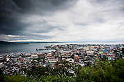 General view of Tacloban City on June 12 2014 in Tacloban, Philippines. Tacloban city and the surrounding villages were devastated after typhoon Hayan passed over leaving at least 10,000 people dead and a high number of disappeared on November 8, 2013.
