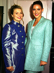 Left to right, LADY KATHARINE HOWARD daughter of the Earl of Suffolk & Berkshire and MISS KATHARINE BEARMAN, at a fashion show in London on 3rd October 1999.MXB 37