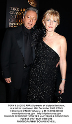 TONY & JACKIE ADAMS parents of Victoria Beckham, at a ball in London on 11th December 2003.PPN 9