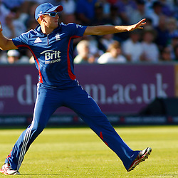 08/09/2012 Durham, England. Jonny Bairstow throws the ball during the 1st Nat West t20 cricket match between  England and South Africa and played at Emirate Riverside Cricket Ground: Mandatory credit: Mitchell Gunn