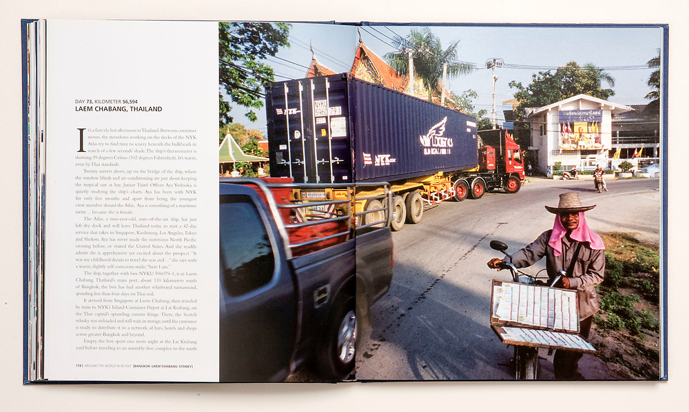 """From the book """"Around the World in 40 Feet"""", commissioned by Nippon Yusen Kaisha, Japan. A 125,000 km epic about travel, trade and interconnected cultures, following a shipping container as it works its way across six continents."""