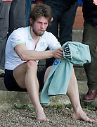 Putney, GREAT BRITAIN,   Cambridges' Tom RANSLEY, Deverstated after after losing the 2009 Boat Race, at Mortlake,  Sun.29.03.2009. [Mandatory Credit, Peter Spurrier / Intersport-images] Rowing Course: River Thames, Championship course, Putney to Mortlake 4.25 Miles,