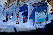 Morocco-Chefchaouen, the fluorescent medina