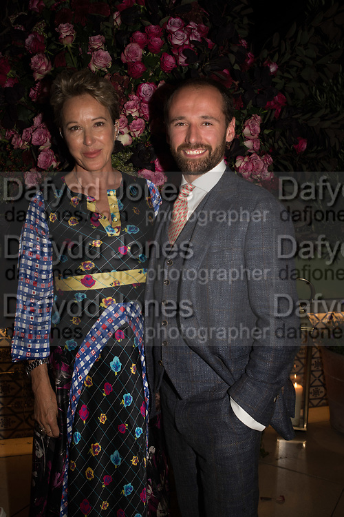 NIKKI TIBBLES; WILLIAM THOMPSON, spotted at Bloom & Wild's exclusive event at 5 Hertford Street last night. 5 September 2017. The event was announcing the new partnership between the UK's most loved florist, Bloom & Wild and British floral design icon Nikki Tibbles Wild at Heart. Cocooned in swaths of vibrant Autumn blooms, guests enjoyed floral-inspired cocktails from Sipsmith and bubbles from Chandon, with canapés put on by 5 Hertford Street. Three limited edition bouquets from the partnership can be bought through Bloom & Wild's website from the 1st September.  bloomandwild.com/WAH