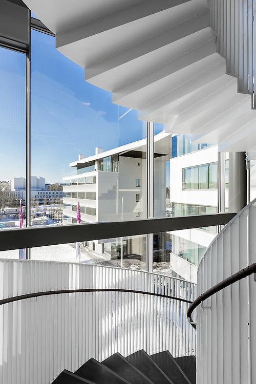 Alma-house office building in Helsinki, Finland designed by JKMM Architects.