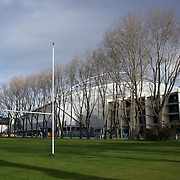 The new Forsyth Barr Stadium, also known as the Otago Stadium, before the Ireland V Italy Pool C match during the IRB Rugby World Cup tournament. Otago Stadium, Dunedin, New Zealand, 2nd October 2011. Photo Tim Clayton...