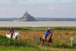 Tarek Tahner, (KSA), Easy Fontnoire, Atta Mohammad Mohammad, Lyrical Breeze, (QAT) - Endurance - Alltech FEI World Equestrian Games™ 2014 - Normandy, France.<br /> © Hippo Foto Team - Leanjo De Koster<br /> 25/06/14