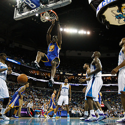 January 5, 2011; New Orleans, LA, USA; Golden State Warriors power forward Ekpe Udoh (20) dunks against the New Orleans Hornets during the fourth quarter at the New Orleans Arena. The Warriors defeated the Hornets 110-103.  Mandatory Credit: Derick E. Hingle