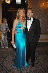 MR & MRS IAN WACE he is a leading financial world figure at the Ark 2007 charity gala at Marlborough House, Pall Mall, London SW1 on 11th May 2007.<br />