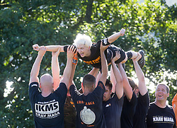 Nick Maison taking the morning session. Krav Island 2014, the 5th annual Krav Island event organised by the Institute of Krav Maga Scotland, which took place on Inchmurrin island, Loch Lomond.