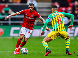 Nahki Wells of Bristol City is challenged by Jake Livermore of West Brom - Rogan/JMP - 22/02/2020 - Ashton Gate Stadium - Bristol, England - Bristol City v West Bromwich Albion - Sky Bet Championship.