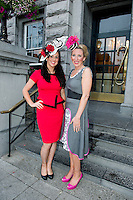02/08/2012.   Orla Mc Donagh (Clare),  and Milliner from Ennis Sinead Madden at the Best Dressed Competition at Hotel Meyrick on Ladies Day of the Galway Races, sponsored by Brown Thomas Galway, hosted by RTE's  Republic of Telly Star Jennifer Maguire. Photo:Andrew Downes..