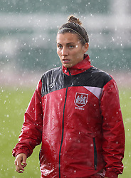 Grace McCatty defender for Bristol City Women warms up in the rain - Mandatory by-line: Robbie Stephenson/JMP - 25/06/2016 - FOOTBALL - Stoke Gifford Stadium - Bristol, England - Bristol City Women v Oxford United Women - FA Women's Super League 2