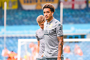 Leeds United forward Helder Costa (17) arrives at the ground during the EFL Cup match between Leeds United and Stoke City at Elland Road, Leeds, England on 27 August 2019.
