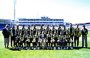 The Pakistan National Cricket Team before the 5th ODI at Carisbrook, Dunedin, New Zealand, 28 February 2001. NZ won by 4 wickets and the series. Photo: Dean Treml/Photosport.co.nz