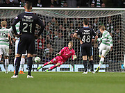 Celtic's Kris Commons scores his side's third goal from the penalty spot -  Celtic v Dundee - SPFL Premiership at Celtic Park<br /> <br /> <br />  - © David Young - www.davidyoungphoto.co.uk - email: davidyoungphoto@gmail.com
